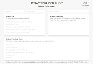 LinkedIn Ideal Client Targeting Worksheet